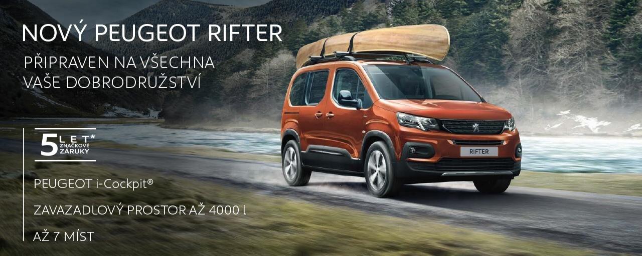 Splňte si své sny. Je tu nový Peugeot Rifter se všestranným využitím jak pro rodinné, tak firemní účely.